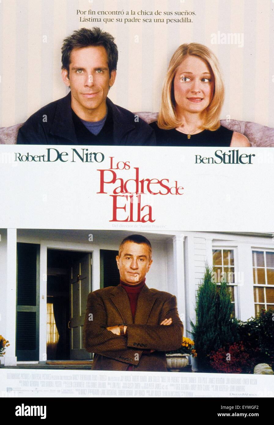 Meet the Parents ; Year : 2000 USA ; Director : Jay Roach ; Ben Stiller, Robert De Niro, teri Polo ; Movie poster - Stock Image