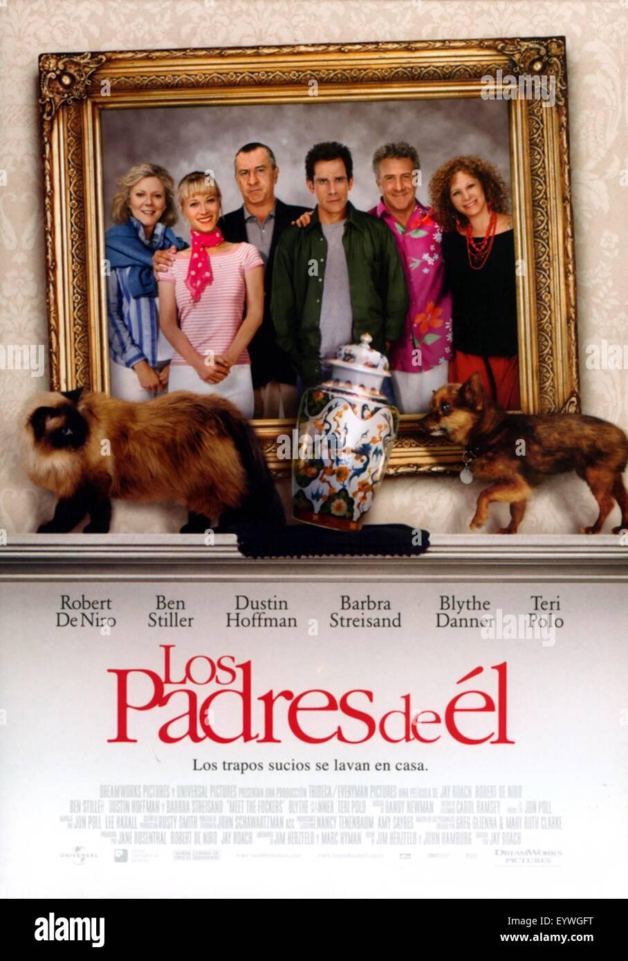 Meet the Fockers ; Year : 2004 USA ; Director : Jay Roach ; Dustin Hoffman, Ben Stiller, Barbra Streisand, Teri - Stock Image