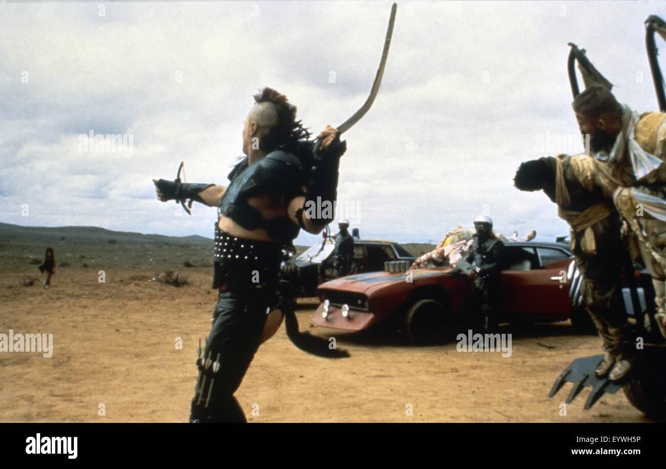 Mad Max II: The Road Warrior ; Year : 1981 Australia ; Director : George Miller ; Vernon Wells ; Photo: Carolyn - Stock Image