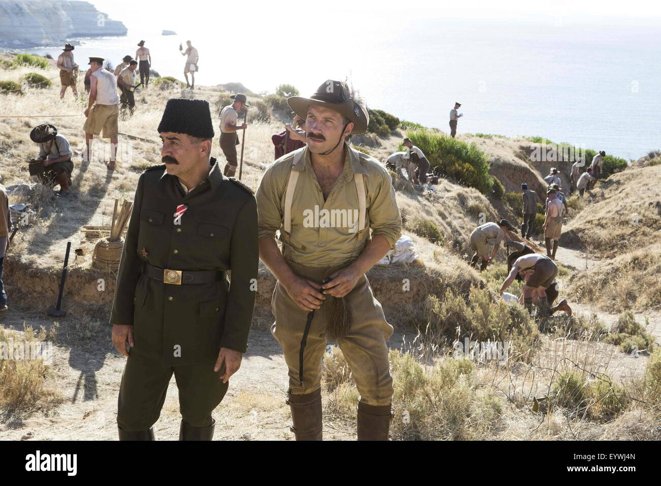 The Water Diviner ; Year : 2014 USA / Turkey / Australia ; Director : Russell Crowe ; Yilmaz Erdogan, Jai Courtney - Stock Image