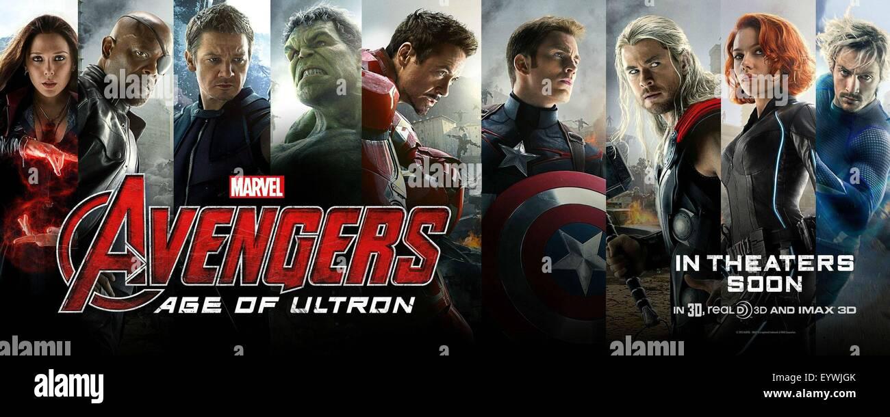 Avengers Age Of Ultron Year 2015 USA Director Joss Whedon Elizabeth Olsen Samuel L Jackson Jeremy Renner Robert Downey Jr Chris Evans