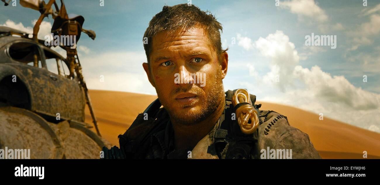 Mad Max: Fury Road ; Year : 2015 USA / Australia ; Director : George Miller ; Tom Hardy - Stock Image