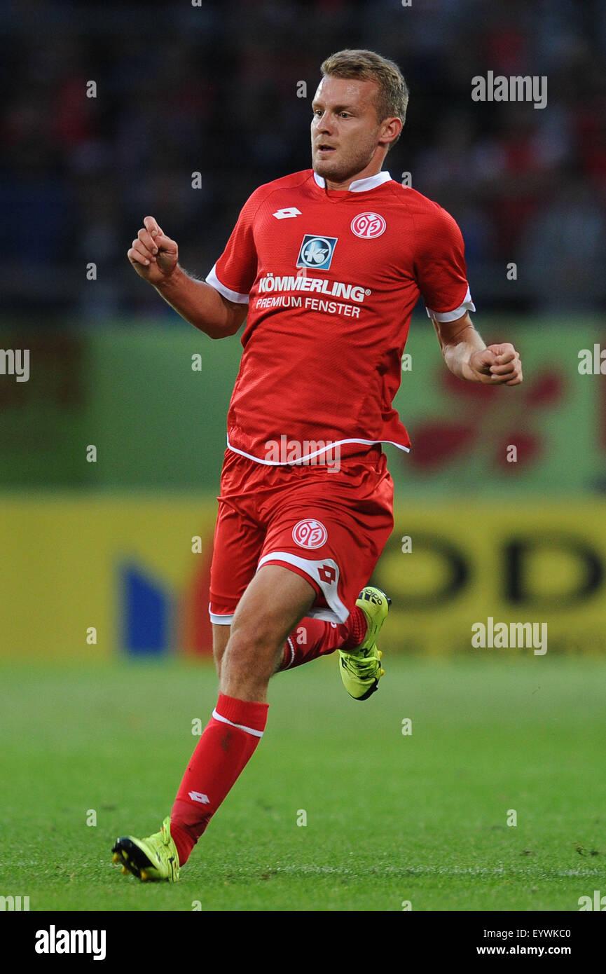 Mainz, Germany. 29th July, 2015. Maximilian Beister (Mainz) Football/Soccer : Pre-season friendly match between - Stock Image