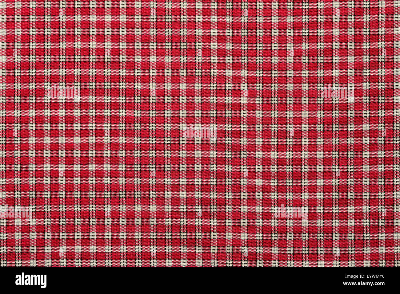 Red Plaid Cloth.   Stock Image