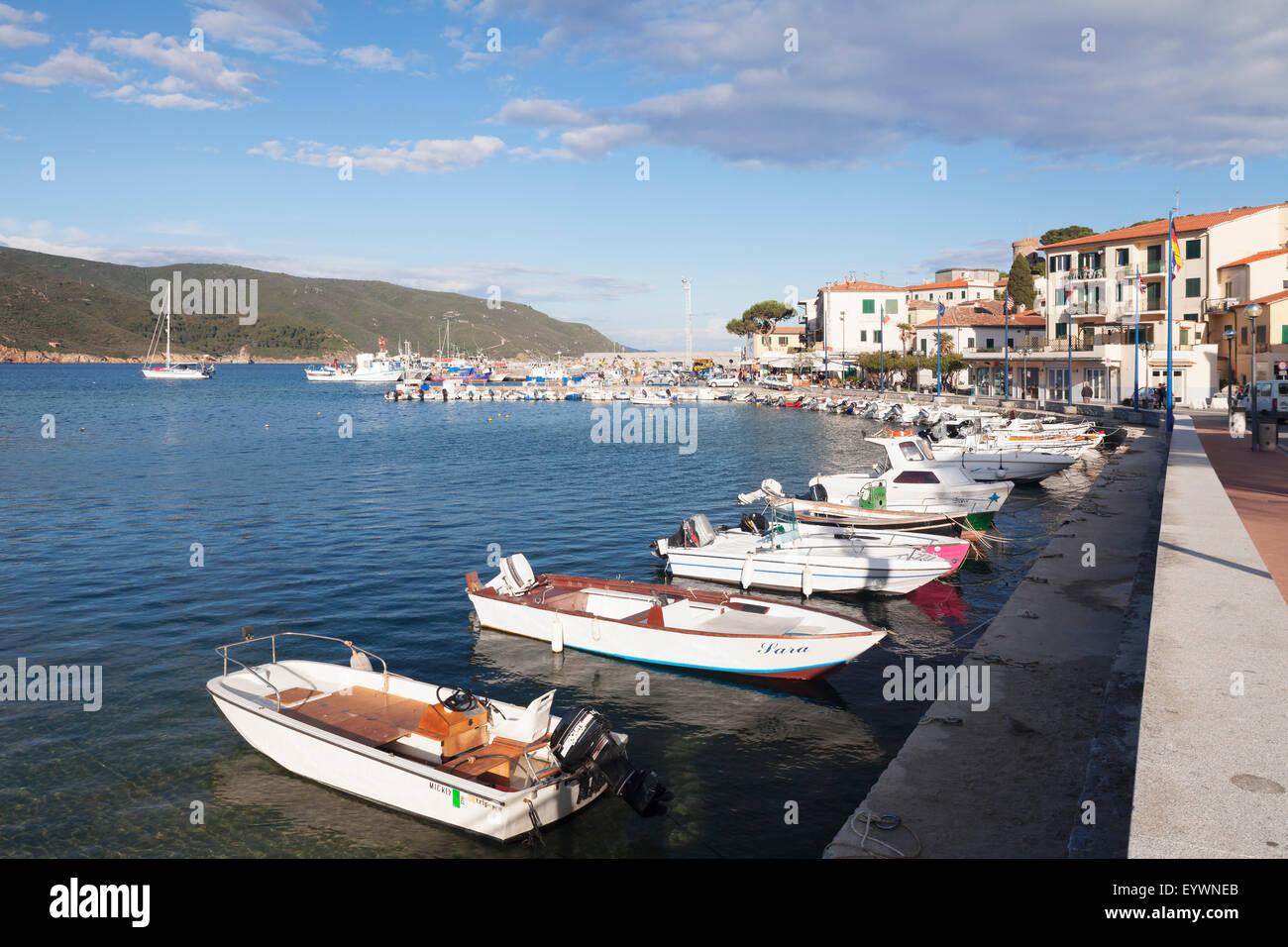 Marina di Campo, Island of Elba, Livorno Province, Tuscany, Italy, Mediterranean, Europe - Stock Image