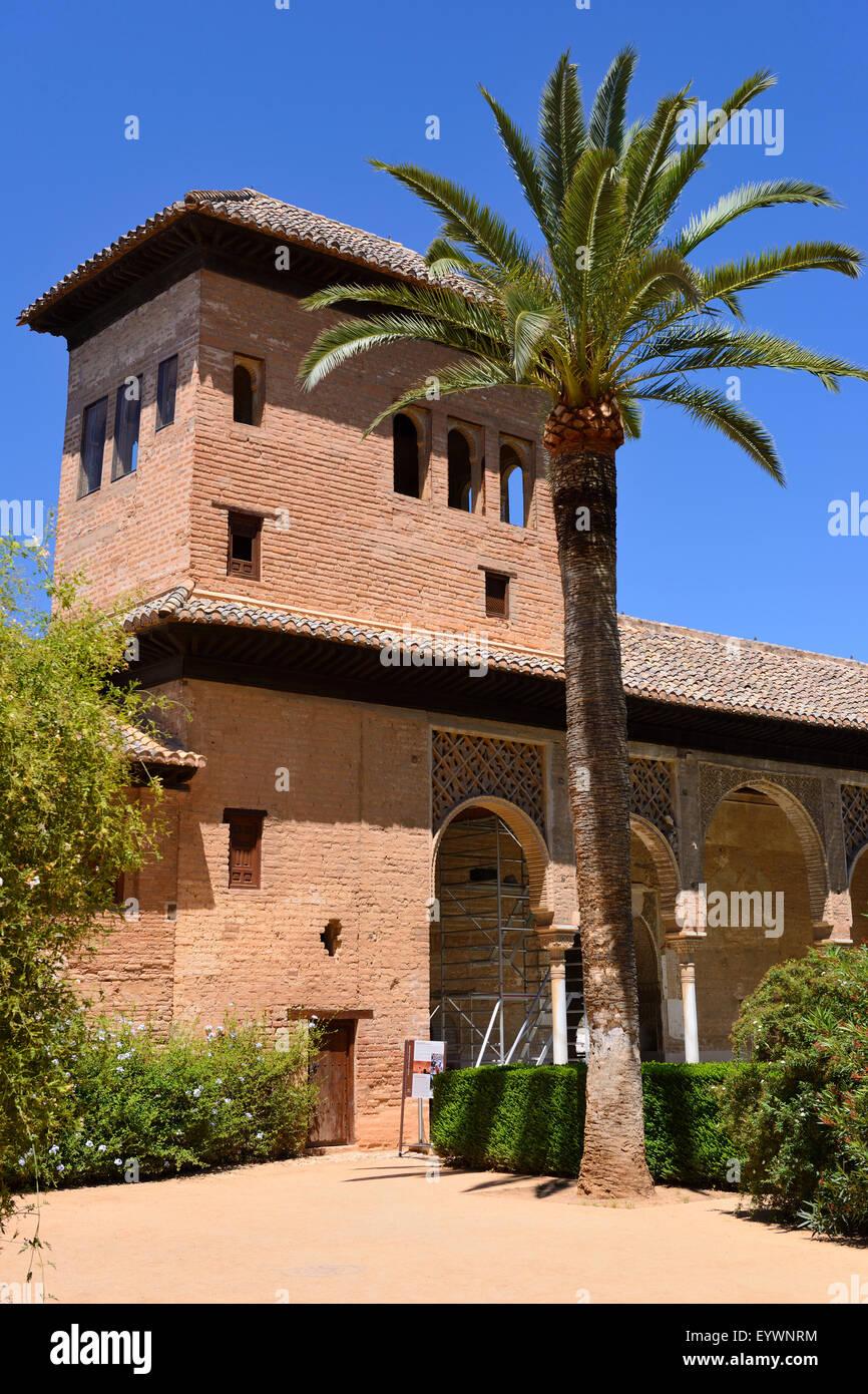Palacio del Portico (Partal) within Alhambra Palace complex in Granada, Andalusia, Spain - Stock Image