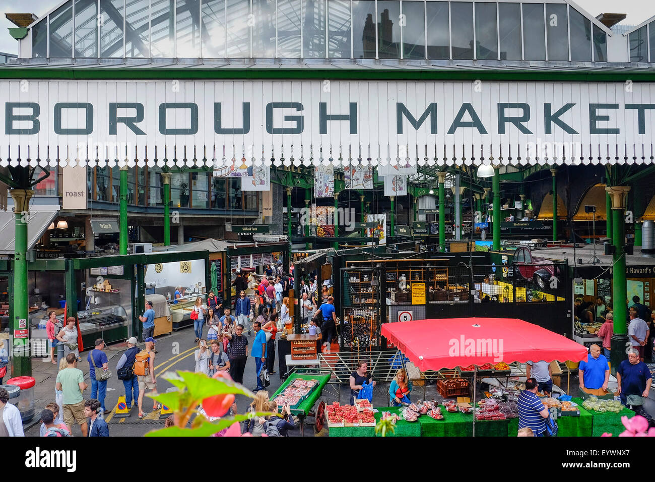 Borough Market in London. - Stock Image