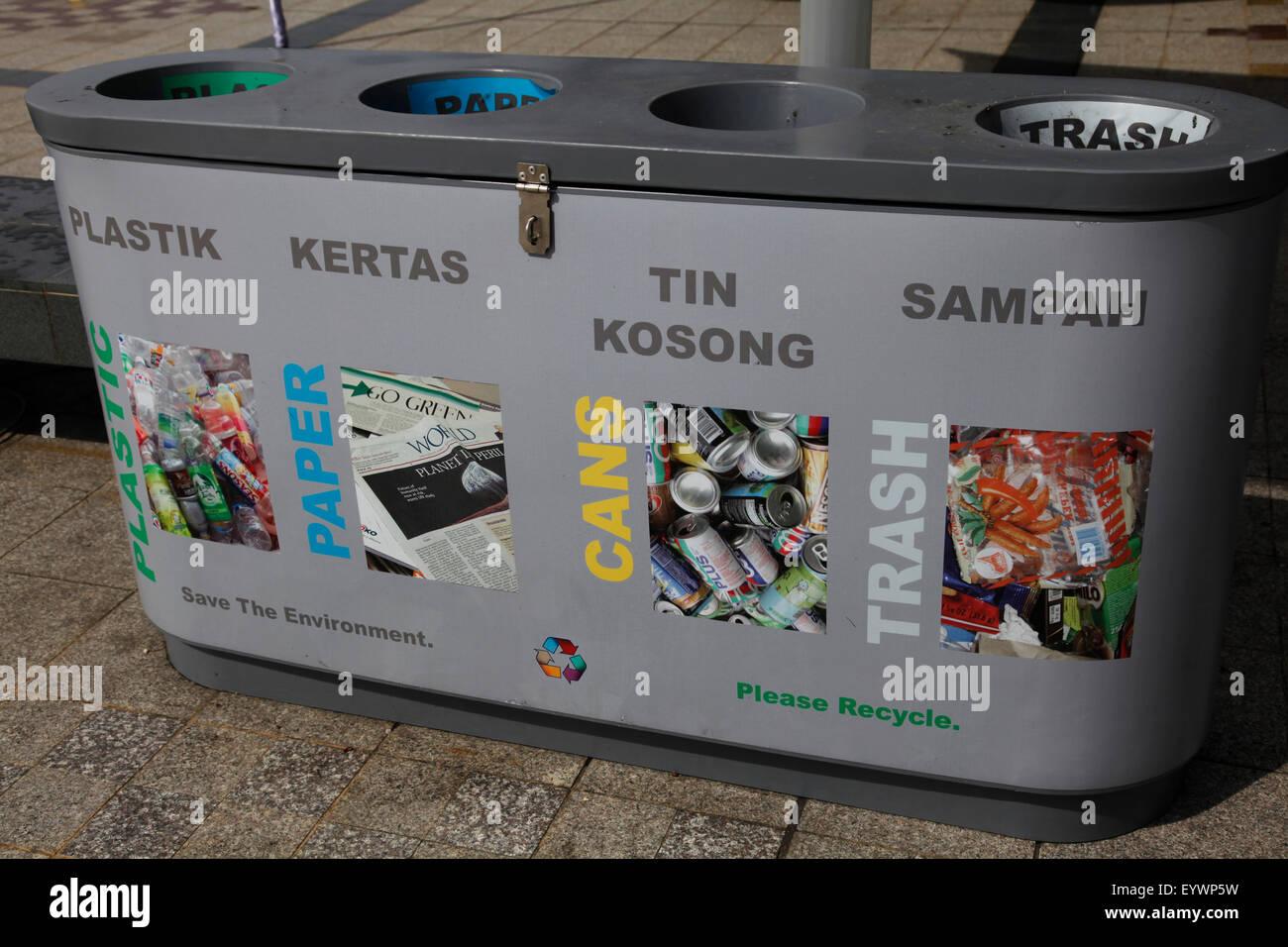 Recycling facilities in Bandar Seri Begawan, Brunei, Southeast Asia, Asia Stock Photo