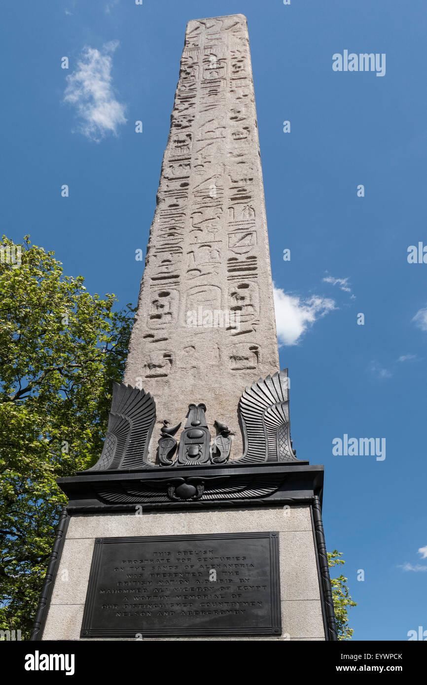 Cleopatra's Needle, Victoria Embankment, London, England, United Kingdom, Europe - Stock Image