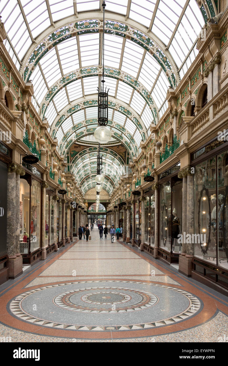 County Arcade, Leeds, West Yorkshire, Yorkshire, England, United Kingdom, Europe - Stock Image