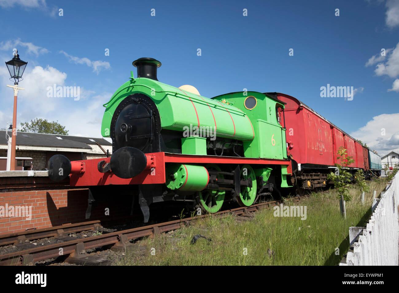 Percy saddle tank locomotive, Museum of Scottish Railways, Bo'ness, Scotland, United Kingdom, Europe - Stock Image
