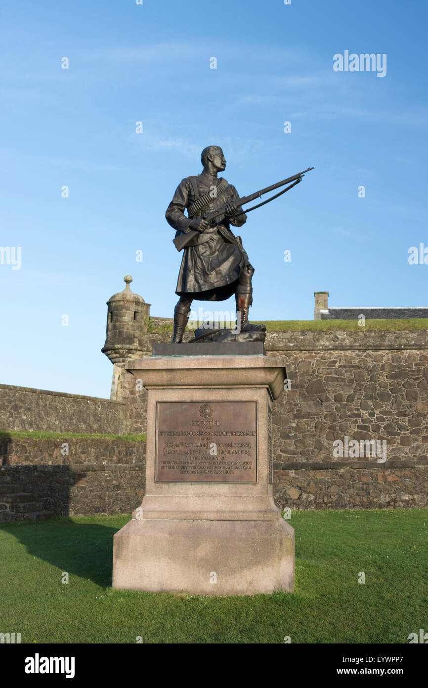 South African War Memorial of Argyll and Sutherland Highlanders, Stirling Castle, Scotland, United Kingdom, Europe - Stock Image