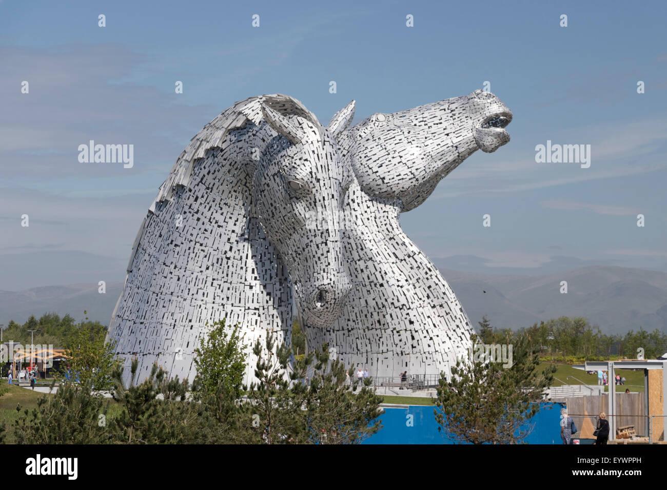 The Kelpies by Andy Scott, Helix Park, Falkirk, Scotland, United Kingdom, Europe - Stock Image
