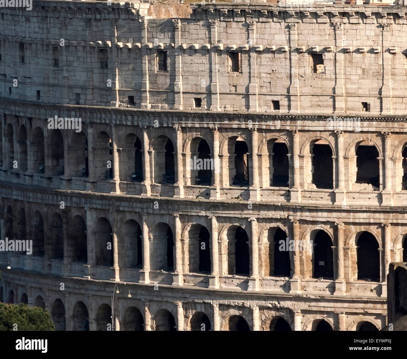 Detail of the Colloseum, UNESCO World Heritage Site, Rome, Lazio, Italy, Europe - Stock Image