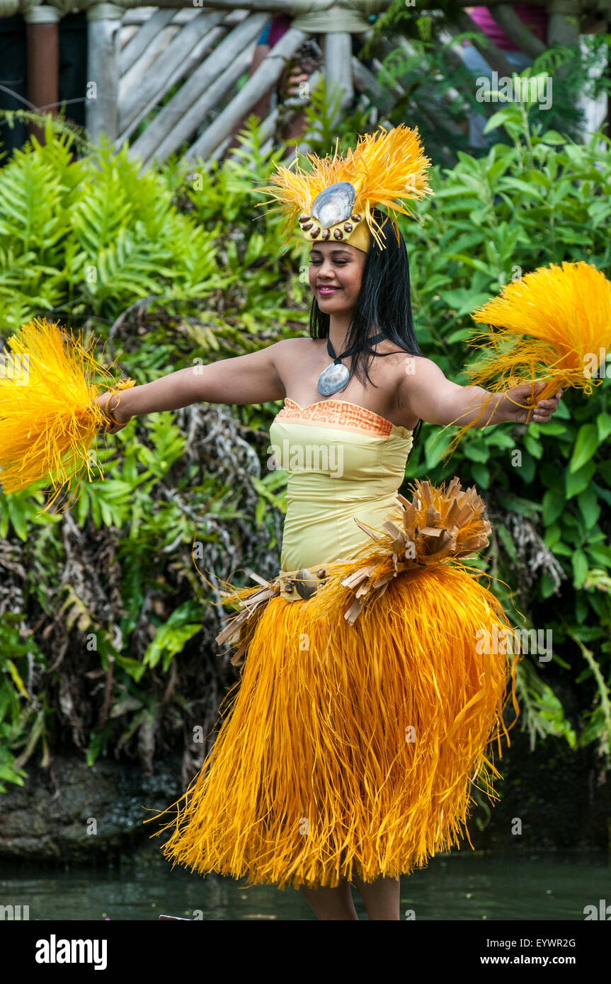 Polynesian Cultural Center, Laie, Oahu, Hawaii, United States of America, Pacific - Stock Image