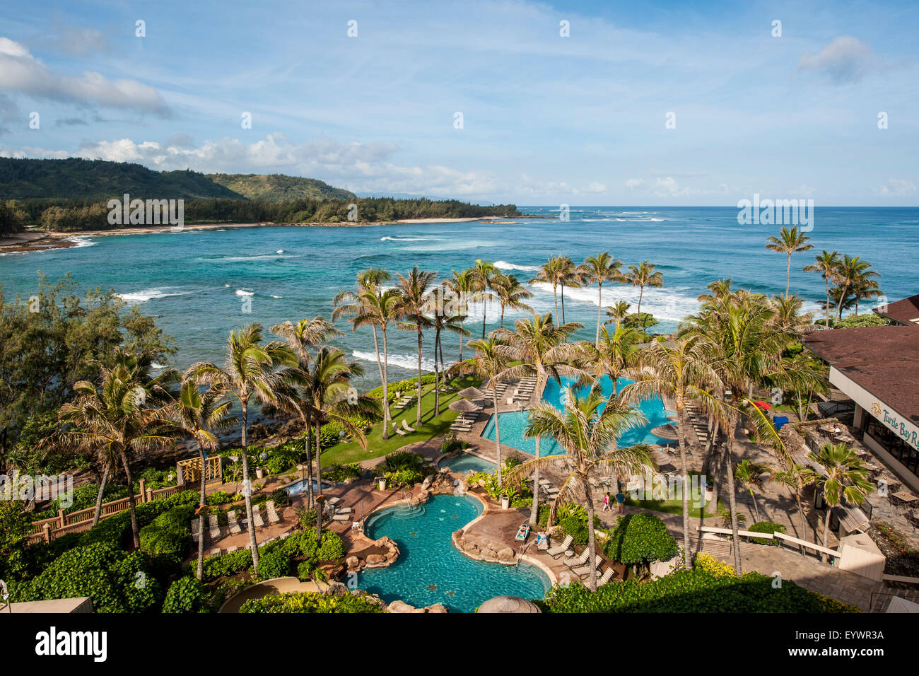 Turtle Bay Resort, North Shore, Oahu, Hawaii, United States of America, Pacific - Stock Image
