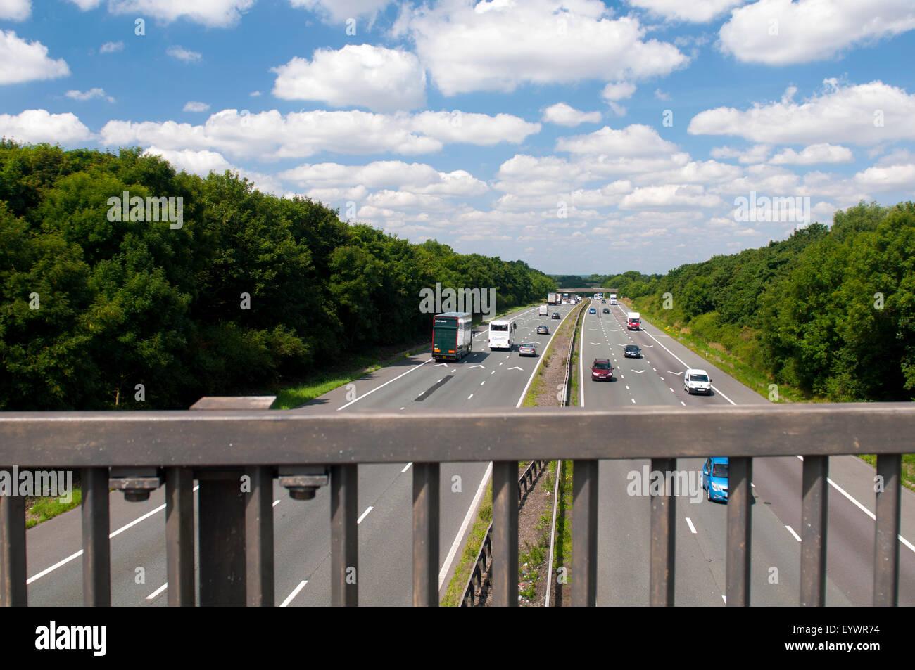 M6 motorway near Easenhall, Warwickshire, UK Stock Photo