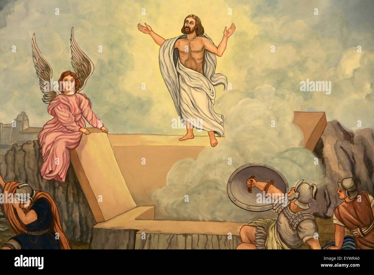 Resurrection of Christ, Domancy, Rhone Alpes, France, Europe - Stock Image