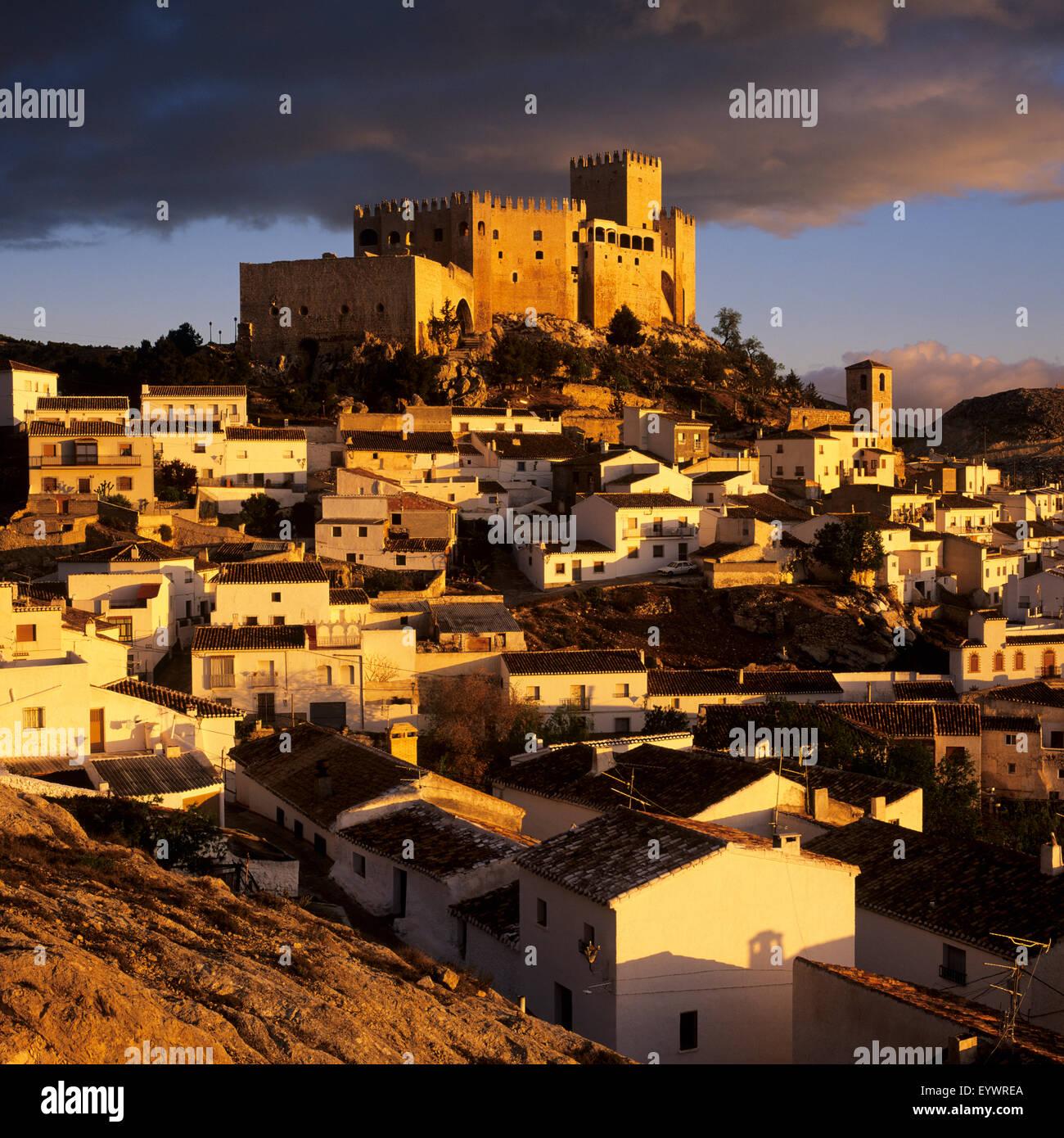 Renaissance castle and town, Velez Blanco, Almeria, Andalucia, Spain, Europe - Stock Image