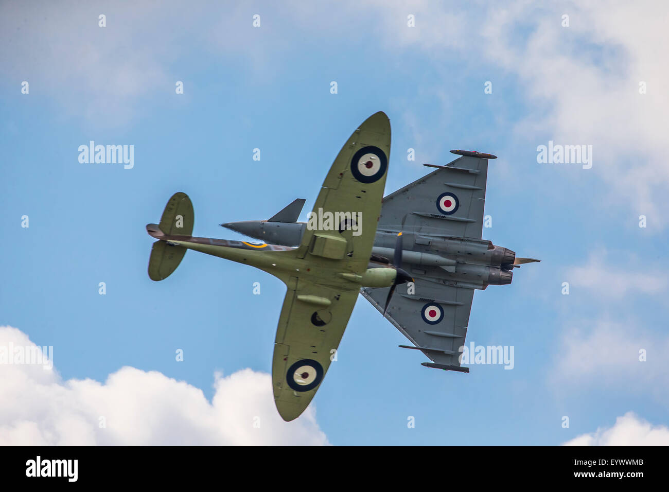 Battle of Britain 75th Anniversary Airshow held at Biggin Hill in Kent, England. Stock Photo