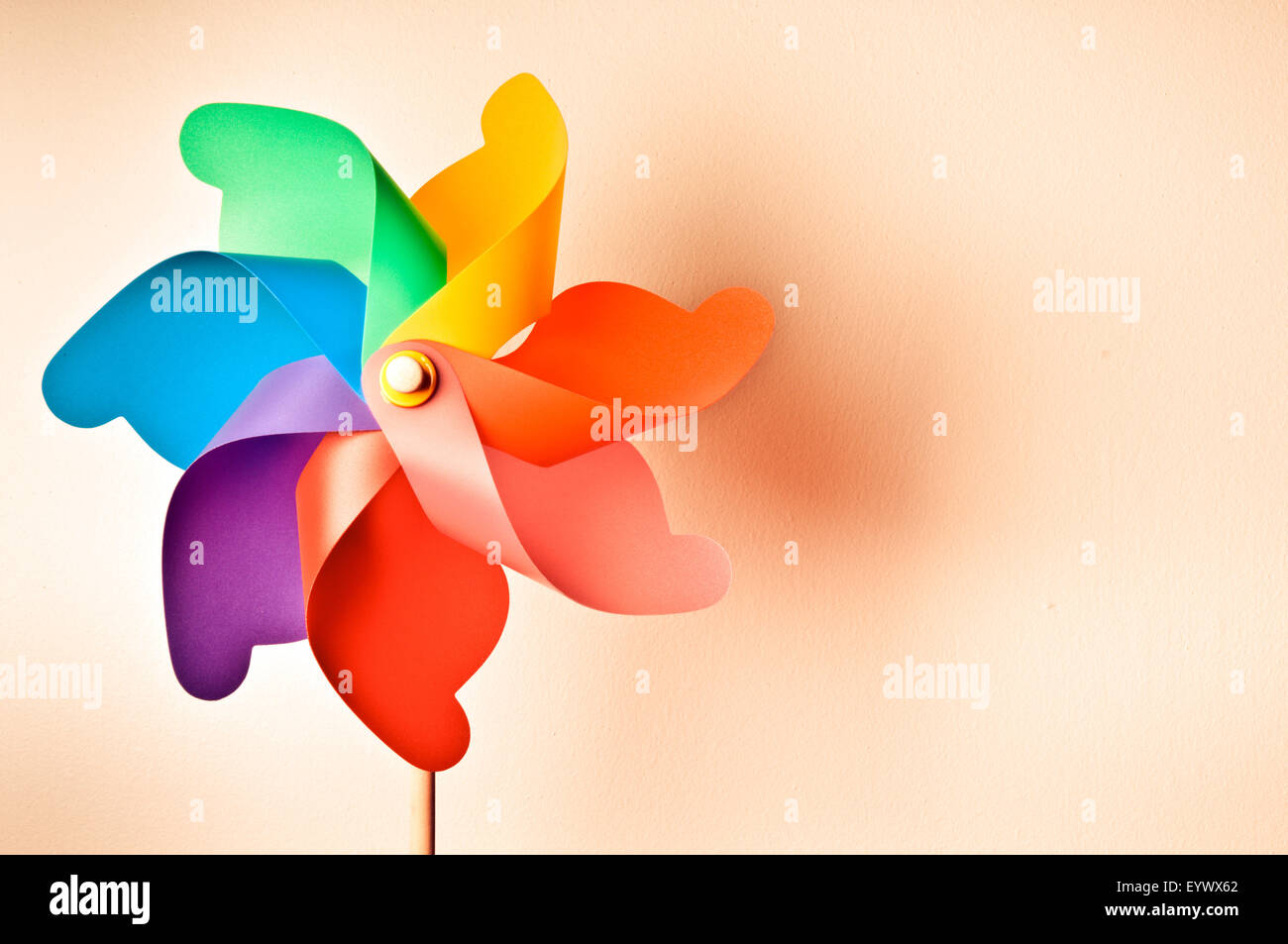 colorful wind spinner - Stock Image