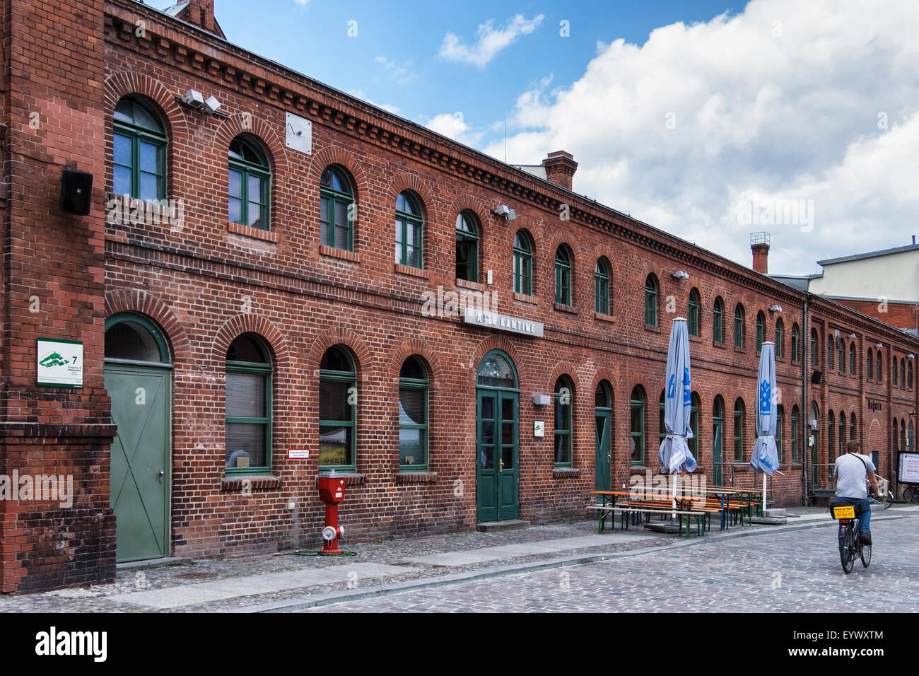 Berlin Kulturbrauerei Alte Kantine, Culture Brewery Old Canteen, Old Schultheiss Brewery for cultural events - Stock Image