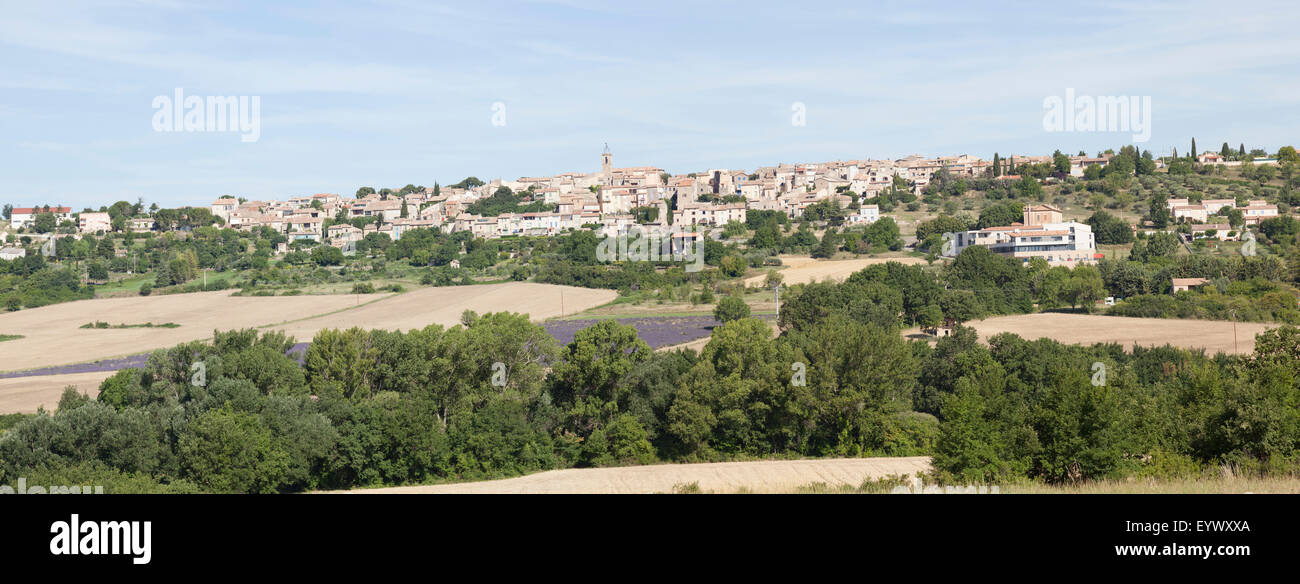 Puimoisson, a Provençal village of the High Provence Alps located in the neighbourhood of the Verdon gorge - Stock Image
