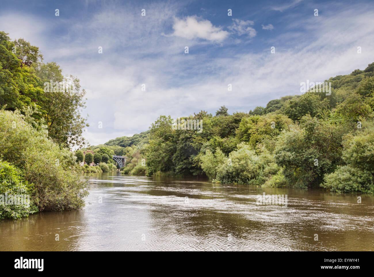 Ironbridge Gorge and the River Severn, Ironbridge, Shropshire, England - Stock Image