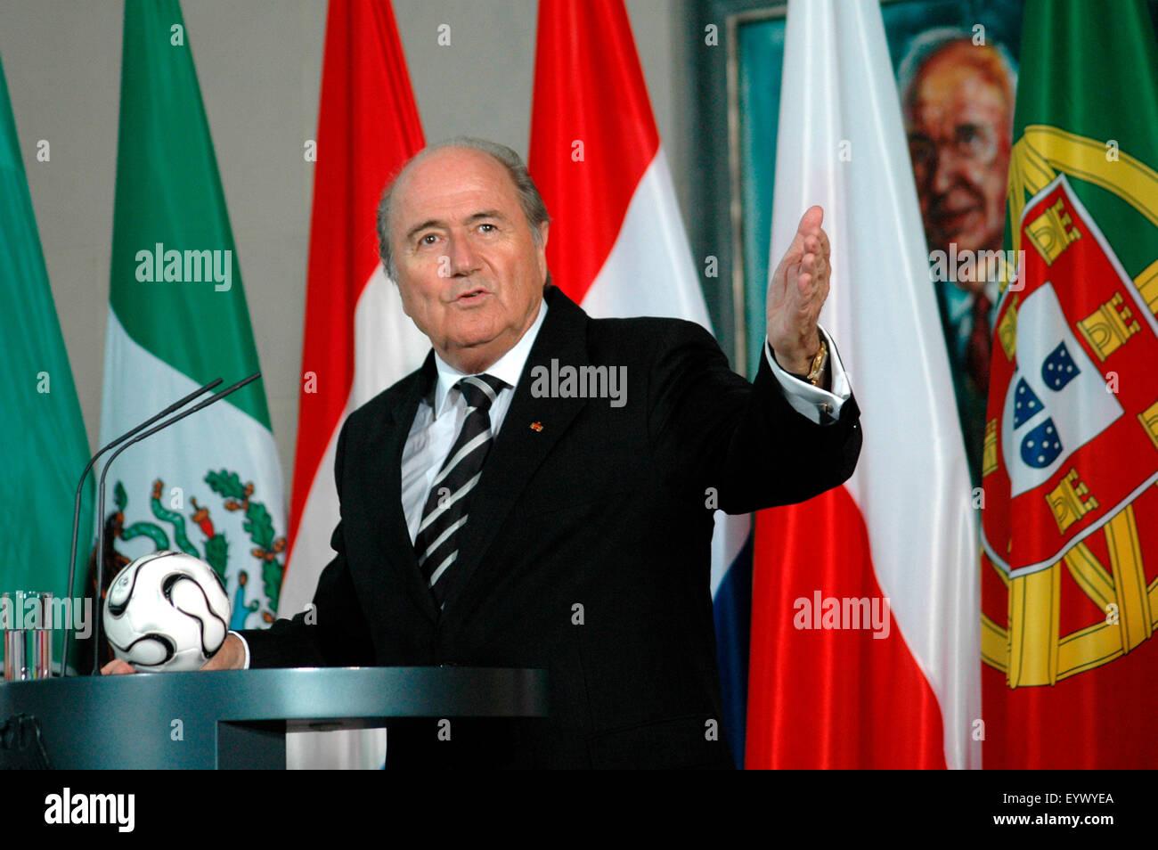 Sepp Blatter - Empfang fuer die FIFA und das Organisationskomitee der Fussballweltmeisterschaft 2006, 7. Juli 2006, - Stock Image