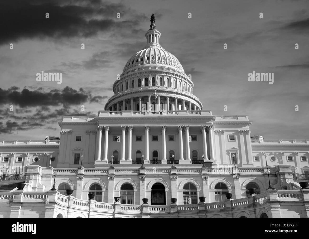 Us Capitol Building Black And White Stock Photos Images Alamy