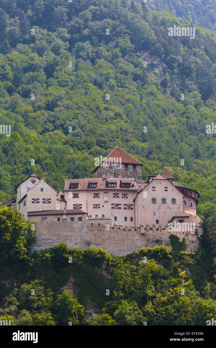 Vaduz, Liechtenstein. Schloss Vaduz.  The castle of Vaduz. - Stock Image