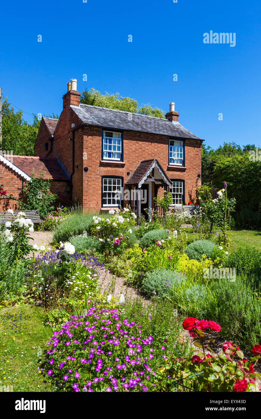 The Birthplace Cottage, where composer Sir Edward Elgar was born, Elgar Birthplace Museum, Lower Broadheath, Worcestershire, - Stock Image