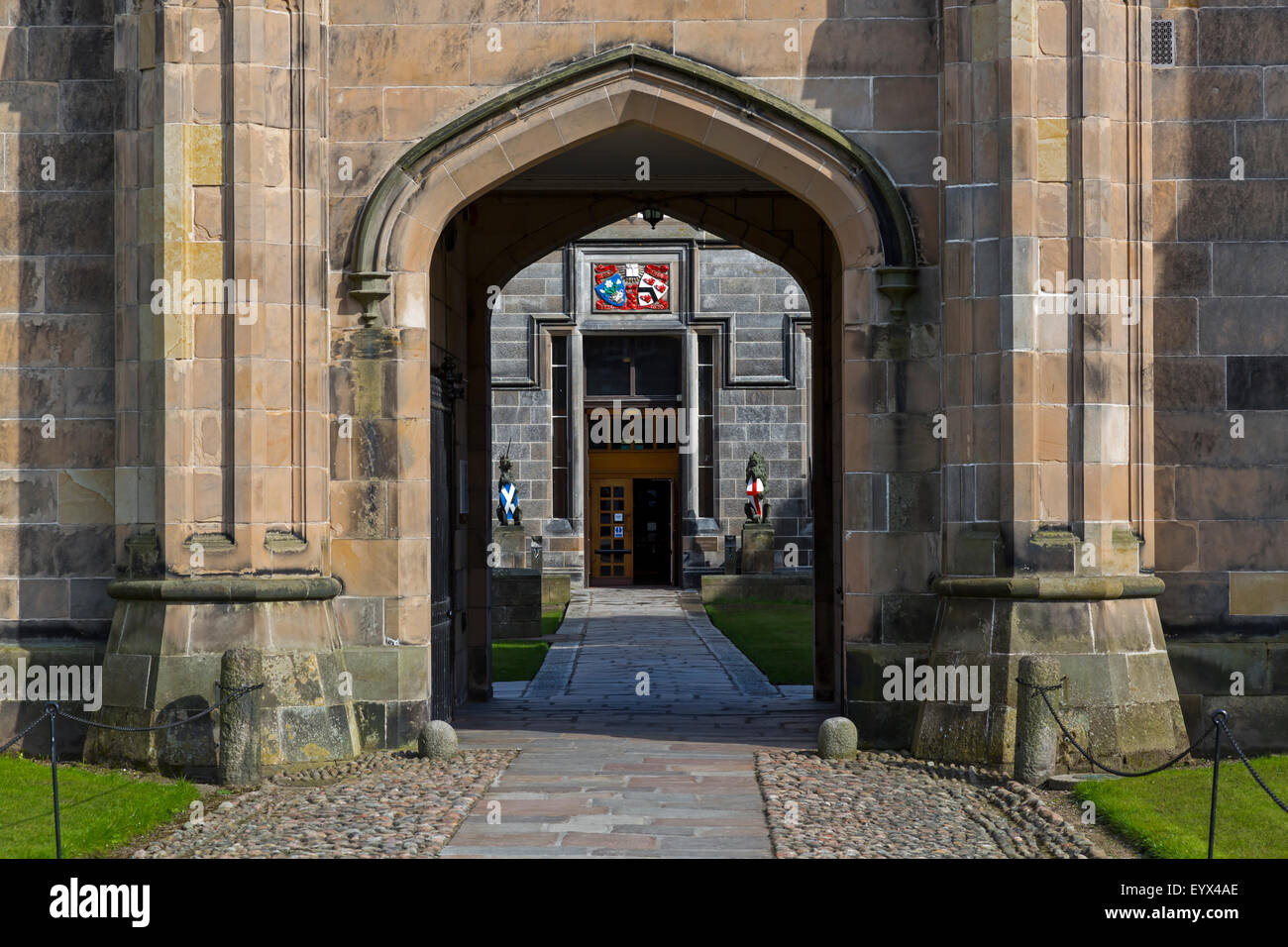 Entrance to King's College at Aberdeen University, Scotland, UK - Stock Image