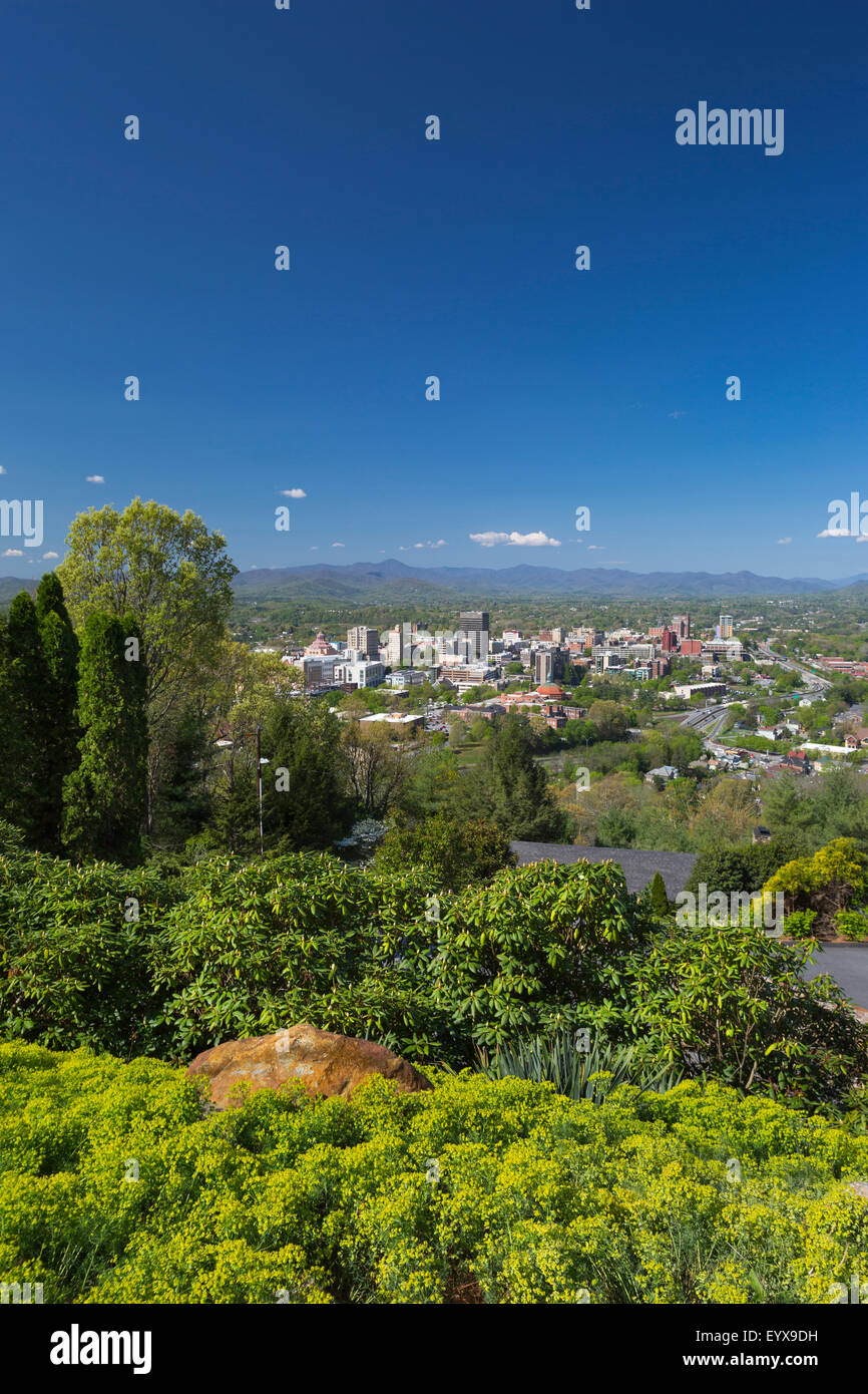 DOWNTOWN SKYLINE ASHEVILLE BUNCOMBE COUNTY NORTH CAROLINA USA - Stock Image