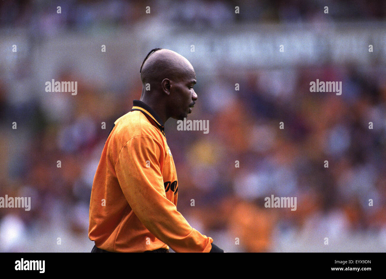 Footballer Tony Daley with unusual hair style 1995 Stock Photo