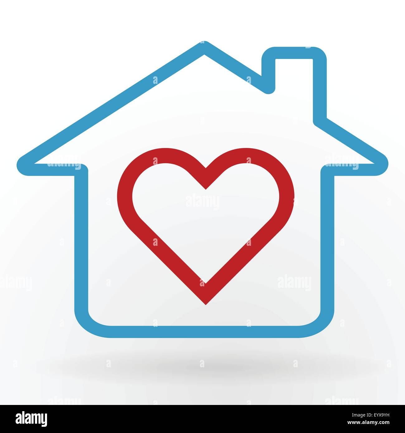 Heart symbol in home happy family and love concept vector ...