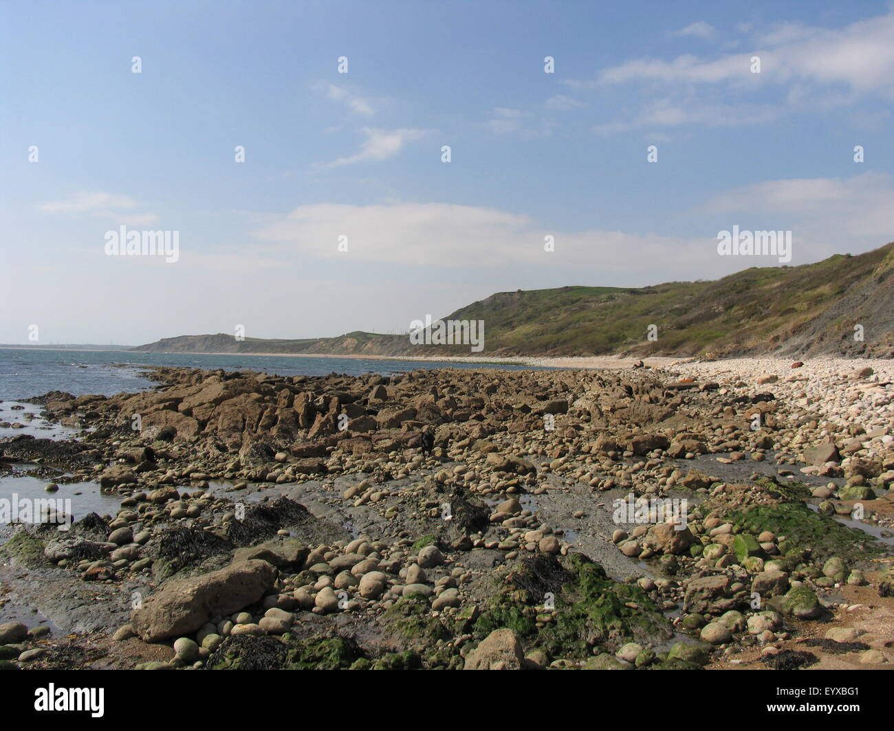 Osmington Mills beach Dorset jurassic coast - Stock Image