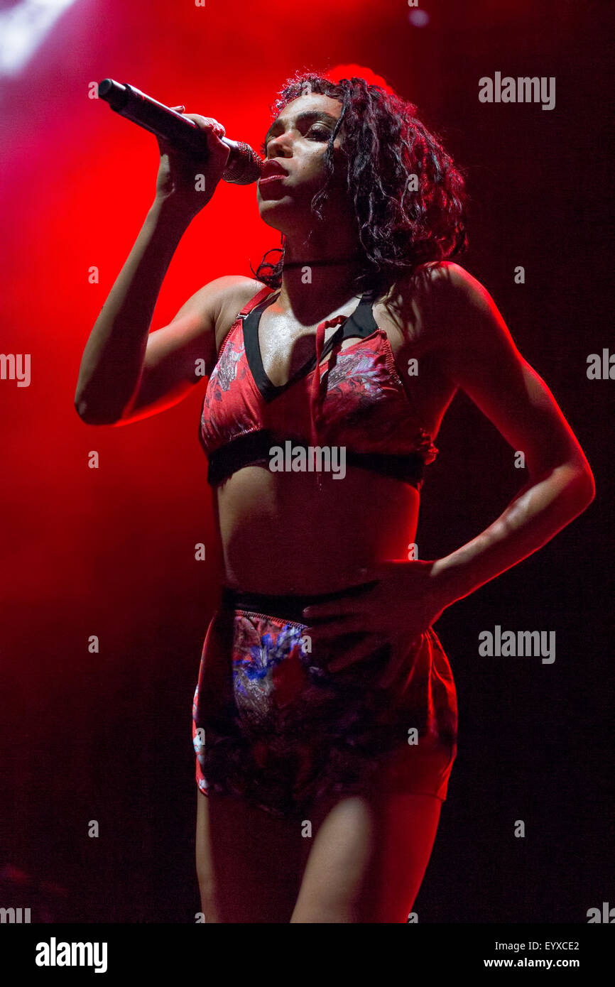 Chicago, Illinois, USA. 2nd Aug, 2015. Singer FKA TWIGS performs live in Grant Park at the Lollapalooza Music Festival - Stock Image