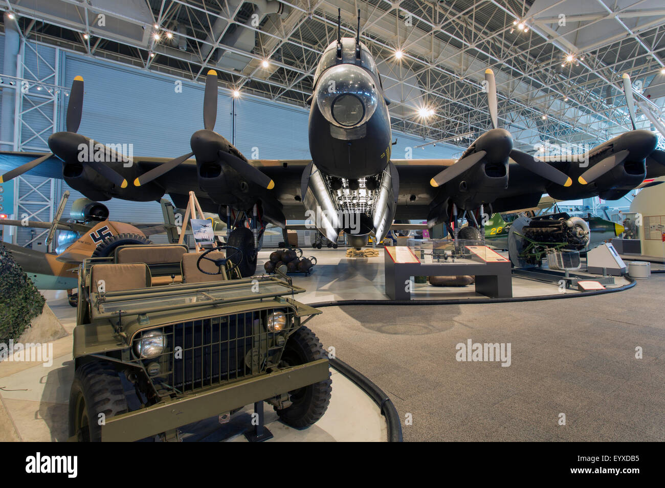 Canada,Ontario,Ottawa, Canada Aviation & Space Museum,Avro 683 Lancaster X - Stock Image