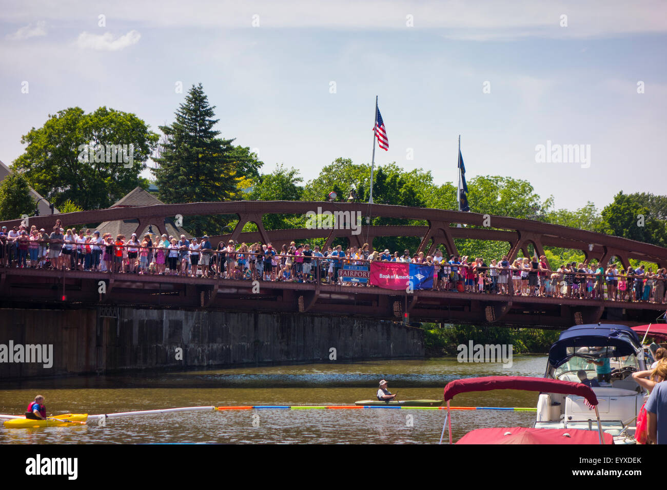 Fairport New York canal festival - Stock Image