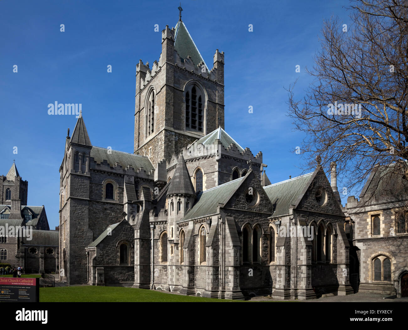 Christ Church Cathedral, Founded 1030, Rebuilt in 1878, Dublin City, Ireland Stock Photo