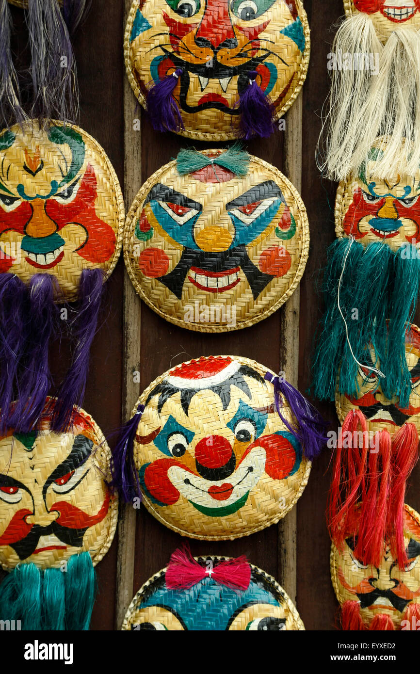 Traditional Vietnamese masks for sale, Temple of Literature, Hanoi, Vietnam - Stock Image