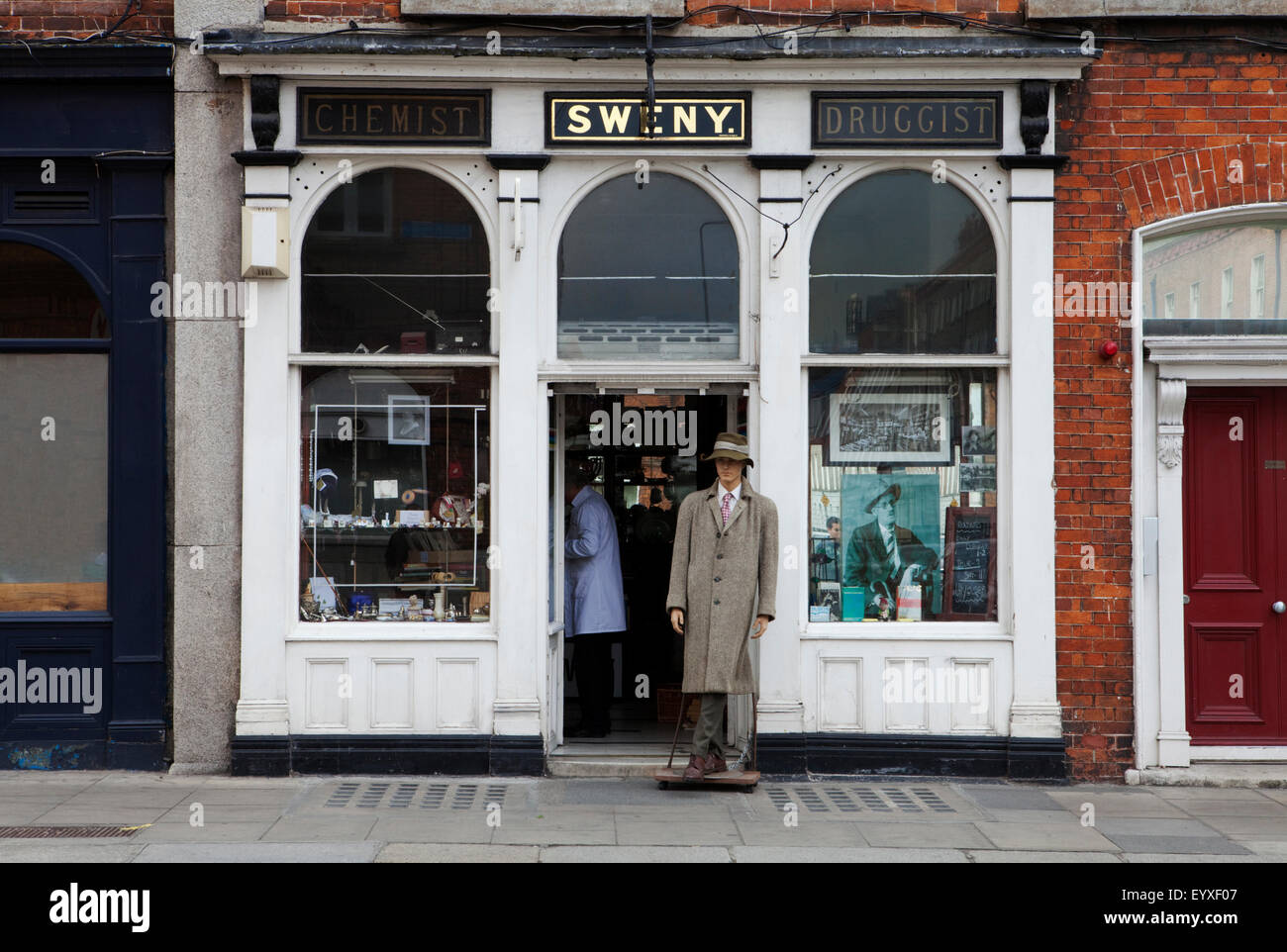 Sweny's Chemist Shop, Where Leopold Bloom bought his soap in 'Ulysses'  Now a Museum in  Westland Row, - Stock Image