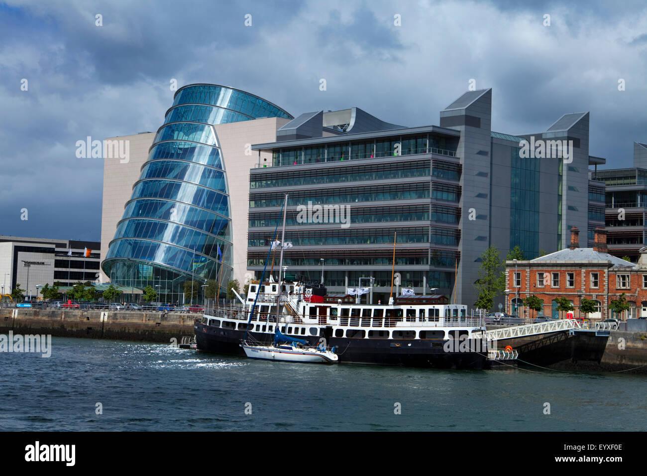 MV Cill Airne (River Restaurant, The National Irish Conference Centre, Dublin City, Ireland - Stock Image
