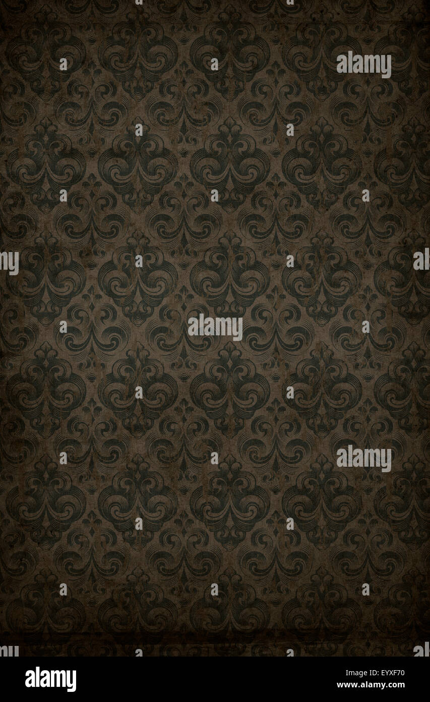 Retro Style Grungy Old Antique Wallpaper Background