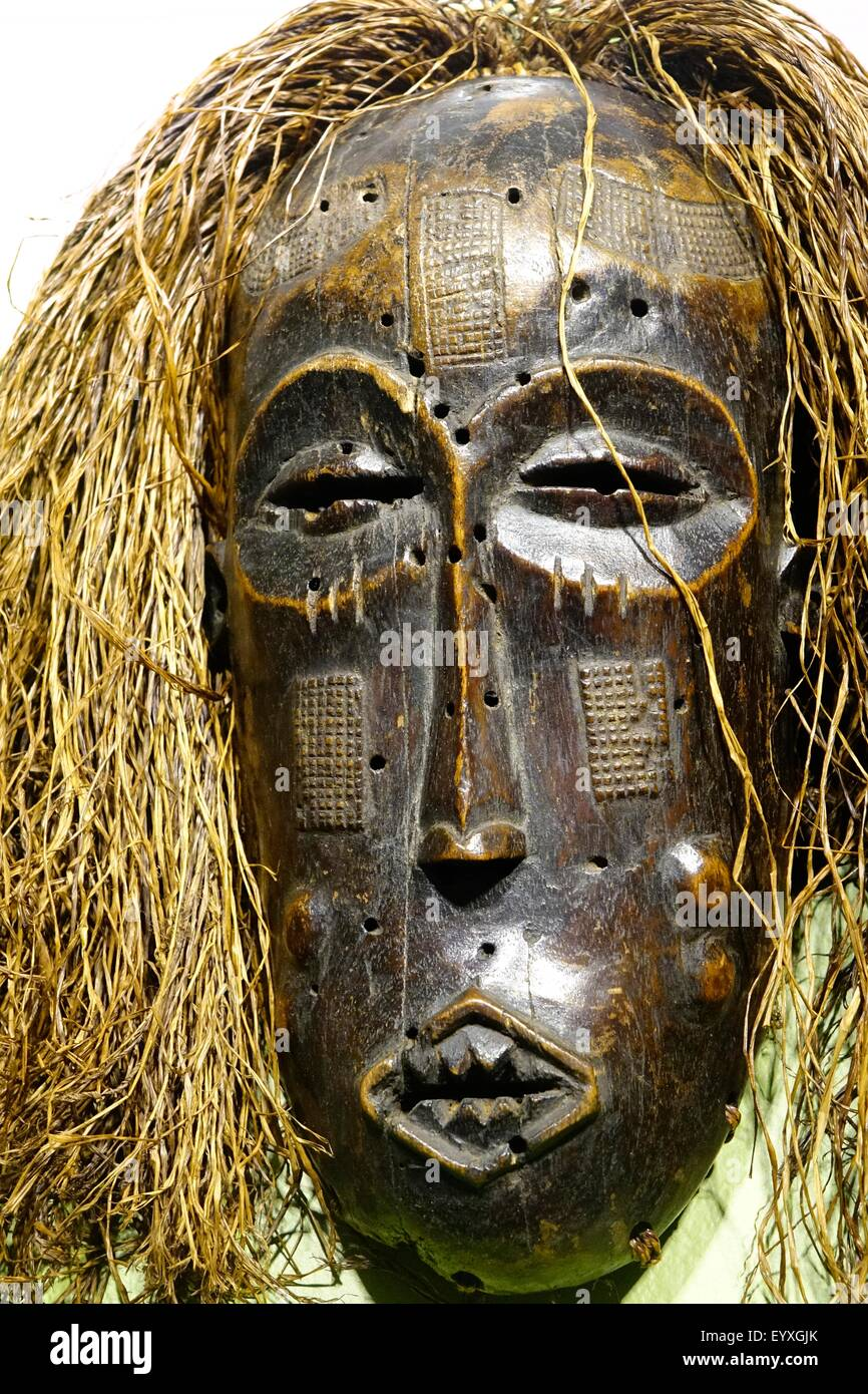 Mwana Pwo mask from Chokwe, Republic of Angola, Museum of Arts and Sciences, Daytona Beach, Florida. Ggift of Steven - Stock Image