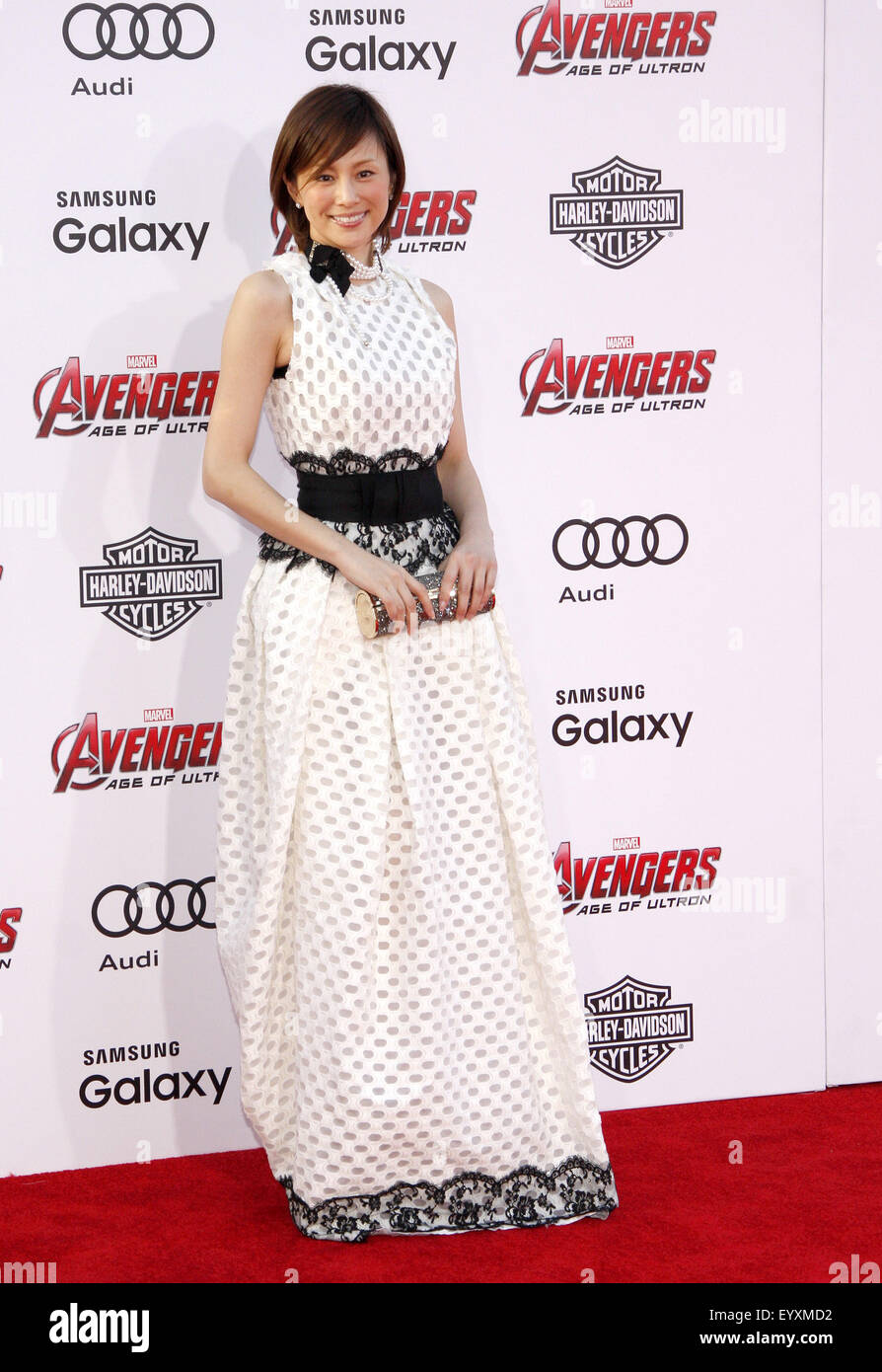 Ryoko Yunokura at the World premiere of Marvel's 'Avengers: Age Of Ultron' held at the Dolby Theatre - Stock Image