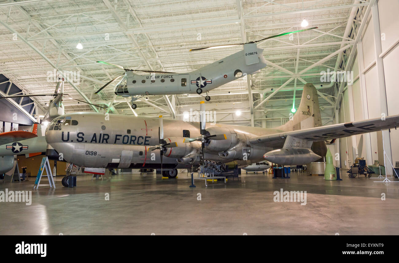 Nebraska, Ashland, Strategic Air & Space Museum, Boeing KC-97G Straofreighter, used for aerial refueling and - Stock Image