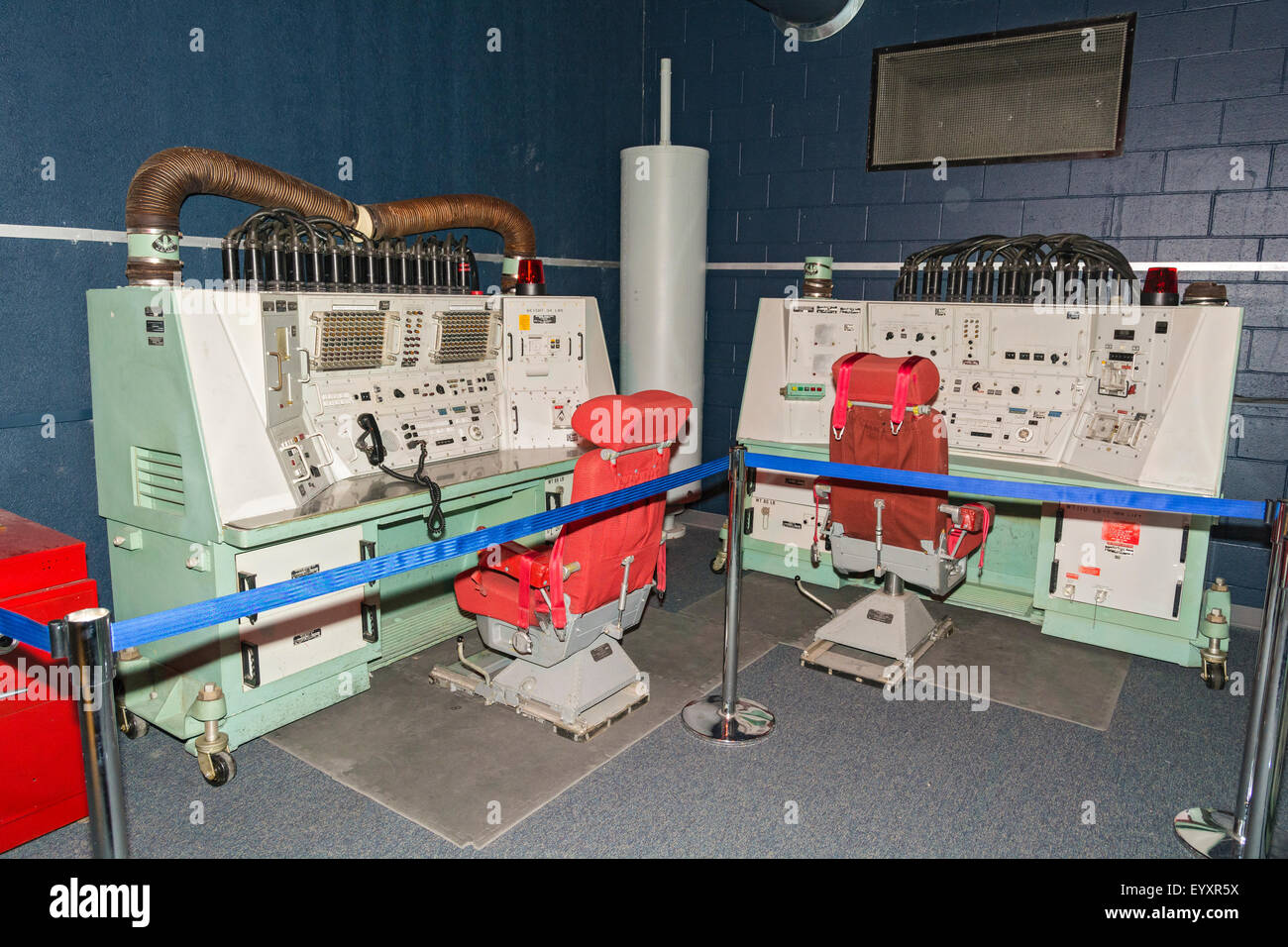 Nebraska, Ashland, Strategic Air & Space Museum, ballistic missile launch console exhibit - Stock Image