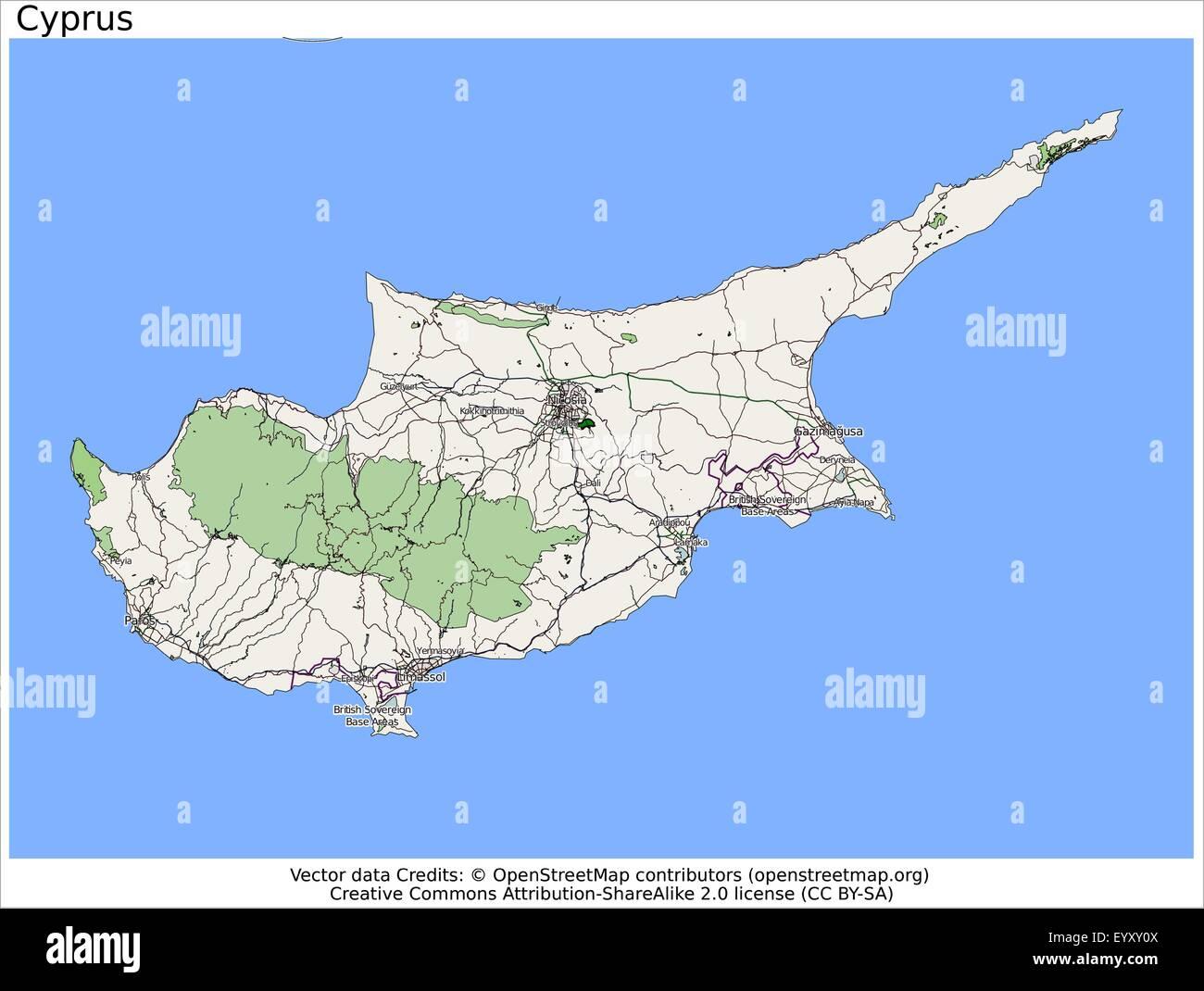 Cyprus island country city island state location map stock vector cyprus island country city island state location map gumiabroncs Image collections